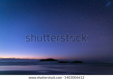 View from Black Rocks Beach at night, NSW, Australia #1403006612