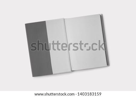 Hardcover Book Mock-Up - Dust Jacket. Front Royalty-Free Stock Photo #1403183159