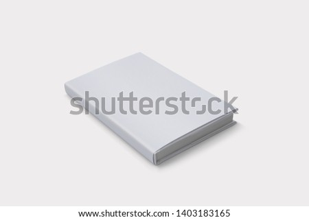 Hardcover Book Mock-Up - Dust Jacket. Front Royalty-Free Stock Photo #1403183165