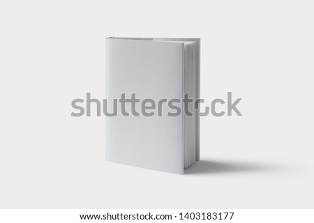 Hardcover Book Mock-Up - Dust Jacket. Front Royalty-Free Stock Photo #1403183177