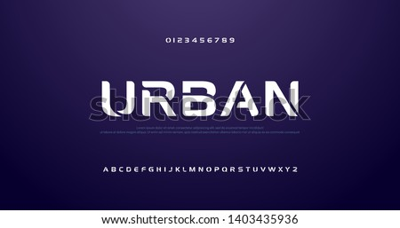 sport future curve, wave modern alphabet fonts. technology typography urban font and number uppercase. vector illustration