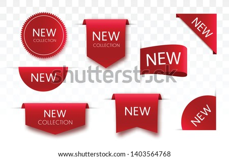 Tags set. Vector badges and labels isolated. Royalty-Free Stock Photo #1403564768