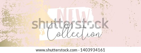 Worn Marble Gold and Pastel advertising background. Fashion artistic template for new collection sign board or sale banner design. Trendy chic and vintage old textures Royalty-Free Stock Photo #1403934161