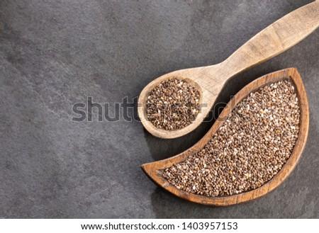 Organic chia seeds - Salvia hispanica. #1403957153