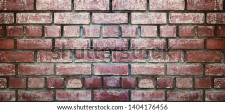 Close up vintage brick wall texture and background. #1404176456