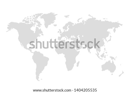 world map illustration vector eps10 Royalty-Free Stock Photo #1404205535