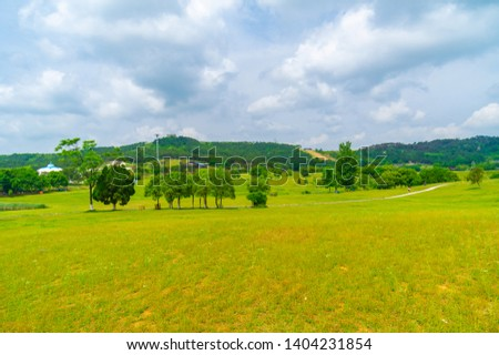 Early Summer scenery of Mulan grassland Scenic spot in Wuhan, Hubei Province, China #1404231854