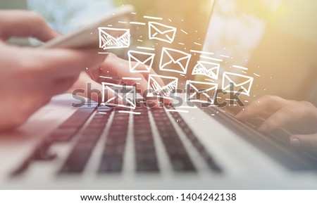 Email marketing and newsletter concept #1404242138