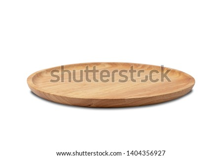 wooden trays on white backgound  #1404356927
