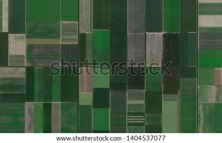 Farmlands (agriculture fielsd) and irrigation canals in Netherlands aerial wiev Royalty-Free Stock Photo #1404537077