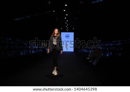 Modanisa Modest Fashion Week/21 April 2019, Istanbul, Turkey: Mizalle backstage and rehearsals at Modest Fashion Week at Zorlu Center. #1404645398