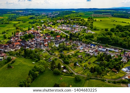 German Village Unterschmitten from above #1404683225