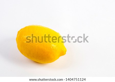 one lemon on white background #1404751124