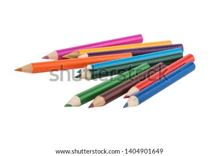 Colour pencils isolated on white background #1404901649