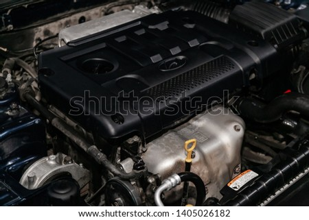Novosibirsk, Russia - May 20, 2019:  Hyundai Sonata
