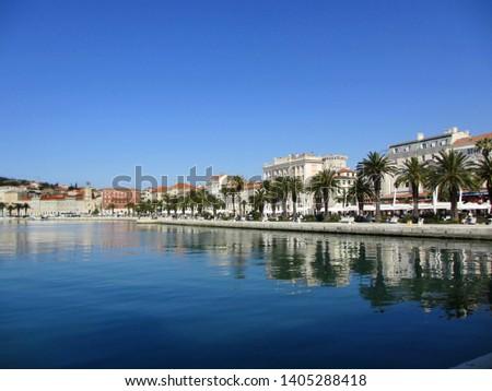 The waterfront in Split Croatia                             #1405288418