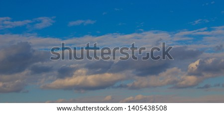 A flock of little clouds, Beautiful photo of clouds in the blue sky #1405438508