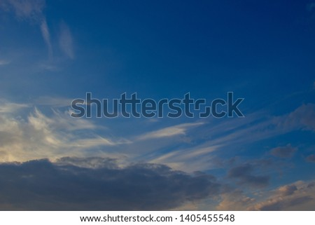 A flock of little clouds, Beautiful photo of clouds in the blue sky #1405455548