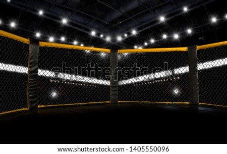 MMA fight cage arena. Octagon – Image Royalty-Free Stock Photo #1405550096