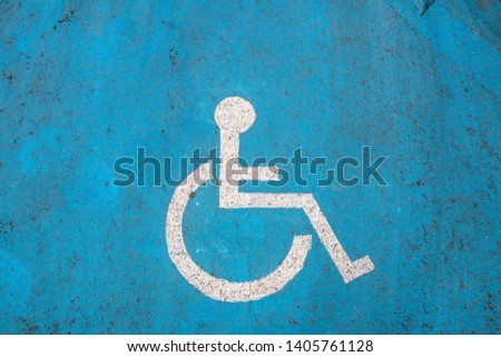 A sign for people with disabilities #1405761128