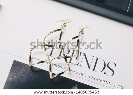 Nha Trang / Viet Nam - 05 24 2019: Accessories, earrings and hair clips for girls #1405895453