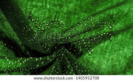 texture, background, pattern, postcard, green emerald silk with glued glass stones to break the light, this fabric is the best fit for your projects, solemnly and stylishly #1405952708