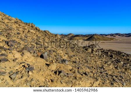 Mountains in Arabian desert not far from Hurghada city, Egypt #1405962986