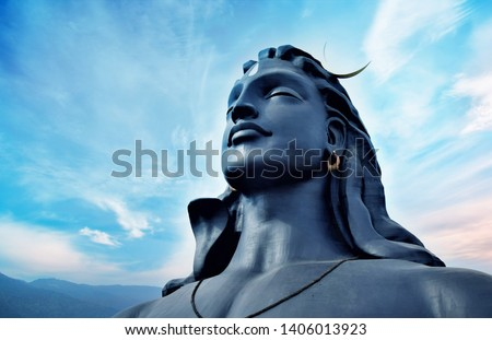 "Largest Bust Sculpture"" in the world. 112 Feet adiyogi shiva statue at Coimbatore in the Indian state of Tamil Nadu, #1406013923"