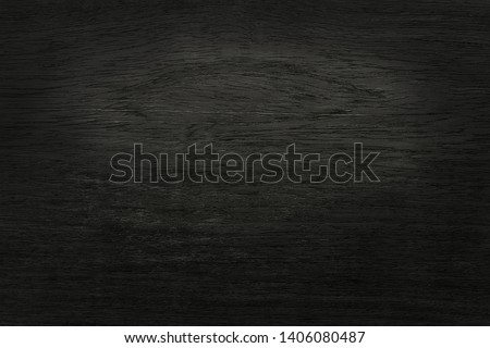 Black wooden wall background, texture of dark bark wood with old natural pattern for design art work, top view of grain timber. #1406080487