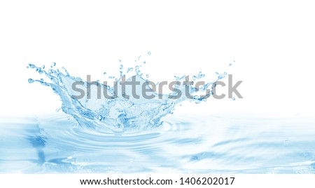 water splash isolated on white background,water   #1406202017