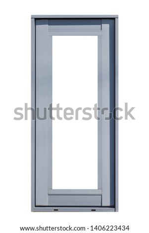Metal window frame isolated on white background  #1406223434