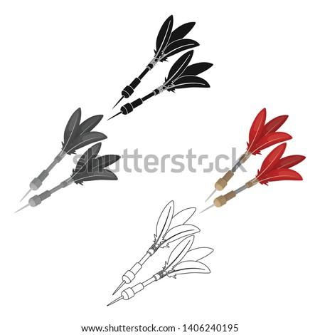 Darts for the wind gun.African safari single icon in cartoon,black style vector symbol stock illustration web.