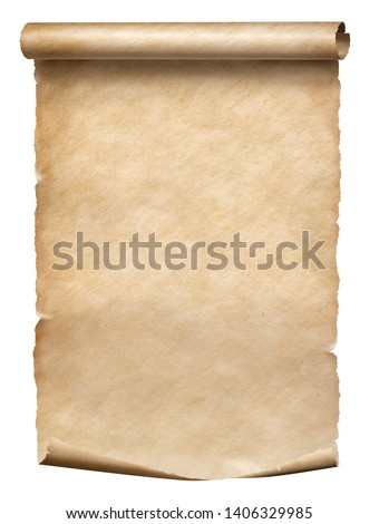 Old parchment scroll isolated on white #1406329985