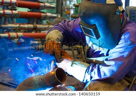 Welder weld metal, Welder, photography