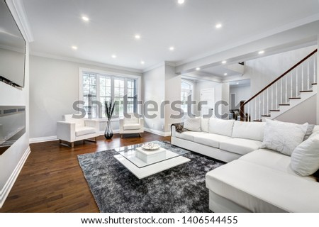 Full set of Canadian brand new staged home in Montreal, Quebec