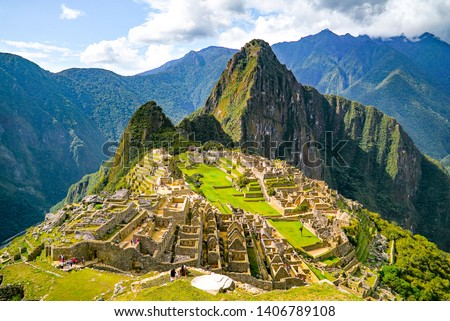 The famous Machu Picchu is a 15th-century is located in the Cusco region of Peru. The beauty of this historic site never ceases to amaze, with people coming from all over the world to visit it.  #1406789108