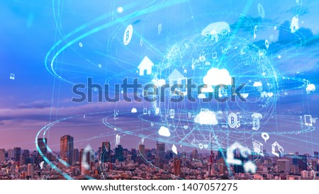 Global communication network concept. Smart city. Internet of Things. #1407057275