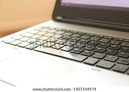 computer pc notebook keyboard close up #1407144974