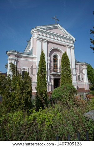 The Church of Saint Barbara, Berdychiv, usually known as St Barbara's Catholic Church, is an urban Catholic parish church in the City of Berdychiv, Ukraine #1407305126