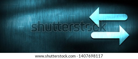 Transfer arrow icon isolated on abstract blue banner background design illustration