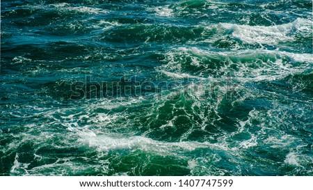 Sea shot taken from a boat #1407747599