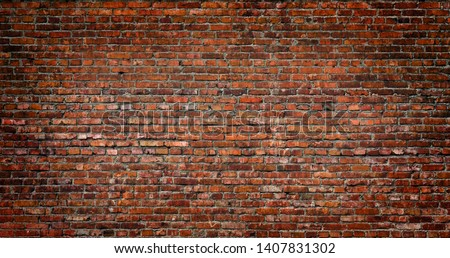 Dark Red Brick wall background and texture #1407831302