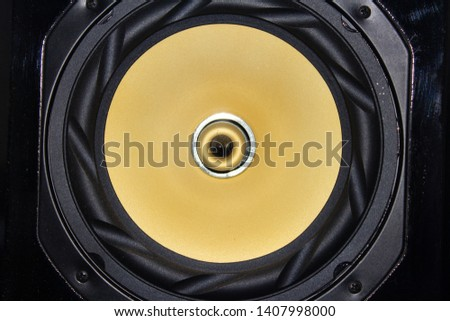 The  big yellow speaker closeup #1407998000