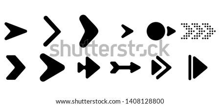 Set of vector arrows. Arrows Black vector on white background. Arrow vector icon. Arrow icon. Arrows Collection  #1408128800