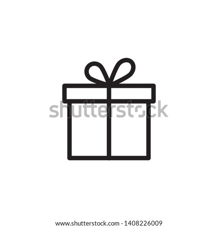 Gift Box icon design template. Trendy style, vector eps 10 Royalty-Free Stock Photo #1408226009