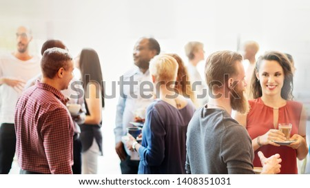 Diverse people at the office party Royalty-Free Stock Photo #1408351031