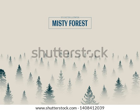 Abstract background. Forest wilderness landscape. Template for your design works. Hand drawn vector illustration. Royalty-Free Stock Photo #1408412039