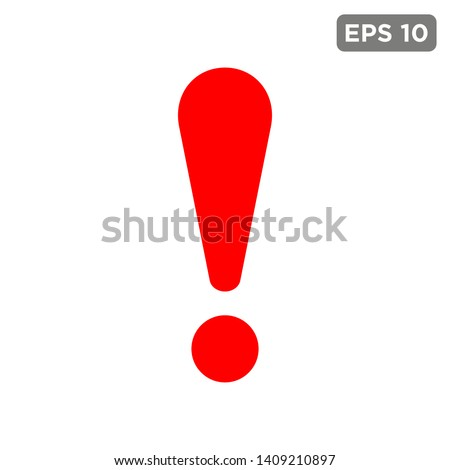 exclamation - caution icon vector design template Royalty-Free Stock Photo #1409210897