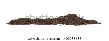 Pile of humus soil isolated on white #1409255636