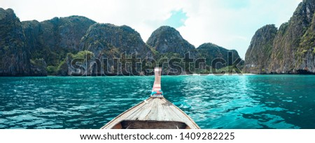 Travel by long tail boat Sea and island  #1409282225